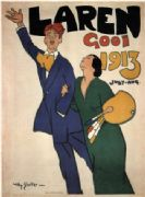 Vintage Laren, Gooi, 1913 July-Aug Advertising Poster.